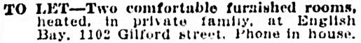Vancouver Province, November 14, 1907, page 18, column 1.