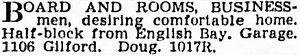 Vancouver Province, October 8, 1938, page 29, column 5.