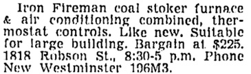 Vancouver Sun, February 27, 1954, page 40, column 4.