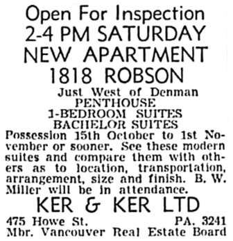Vancouver Sun, October 1, 1954, page 46, column 6.