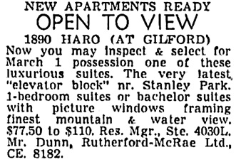 Vancouver Sun, February 17, 1955, page 37, column 4.