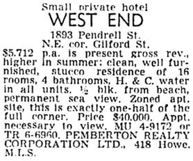 Vancouver Province, May 9, 1959, page 26, column 7.