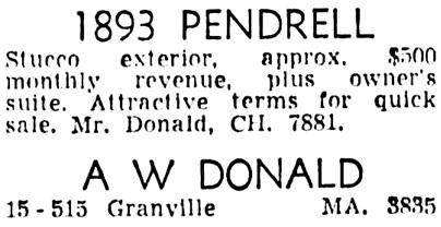 Vancouver Sun, December 1, 1954, page 45, column 4.