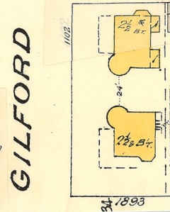 1893 Pendrell Street, detail from Goad's Atlas of Vancouver, volume 1; Plate 63 Denman Street to Comox Street to Stanley Park boundary to English Bay]; Vancouver City Archives, 1972-582.38; https://searcharchives.vancouver.ca/plate-63-denman-street-to-comox-street-to-stanley-park-boundary-to-english-bay.