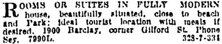 Vancouver Sun, November 29, 1921, page 12, column 6.
