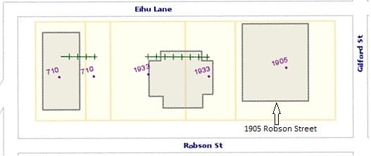 1905 Robson Street, source map: City of Vancouver, Vanmapp; http://vanmapp.vancouver.ca/pubvanmap_net.