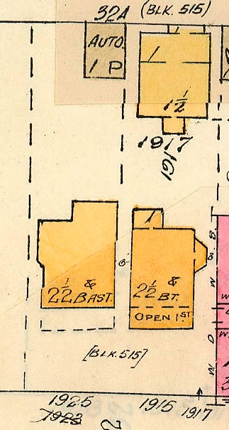1915 Pendrell Street; 1917 Pendrell Street; 1925 Pendrell Street; detail from Goad's Atlas of Vancouver, volume 1; Plate 63 Denman Street to Comox Street to Stanley Park boundary to English Bay]; Vancouver City Archives, 1972-582.38; https://searcharchives.vancouver.ca/plate-63-denman-street-to-comox-street-to-stanley-park-boundary-to-english-bay.