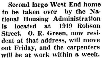 Vancouver Sun, September 1, 1943, page 17, column 3.