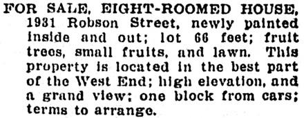 Vancouver Province, January 9, 1904, page 10, column 7.