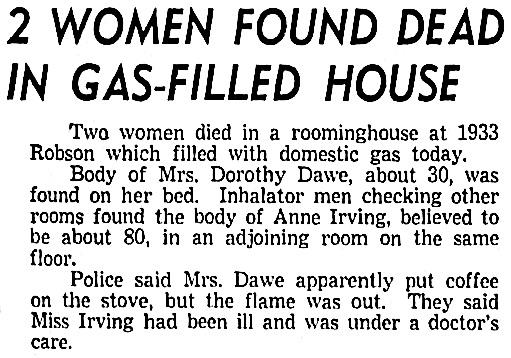 Vancouver Sun, November 24, 1956, page 1, columns 1-2.