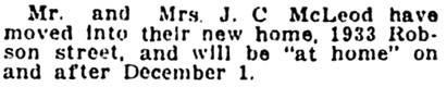 Vancouver Province, November 3, 1919, page 9, column 2.