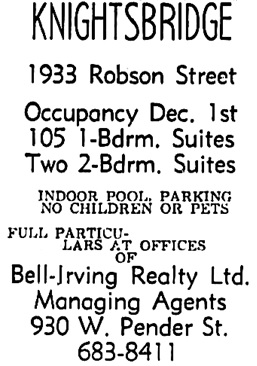 Vancouver Sun, October 12, 1968, page 43, column 1.