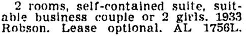 Vancouver Province, December 10, 1949, page 28, column 4.