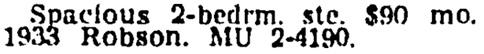 Vancouver Sun, June 30, 1964, page 34, column 7.
