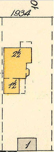 1934 Barclay Street; 1913, detail from Denman Street to Haro Street to Chilco Street to Comox Street; 1972-582.29 – Plate 54; Reference code: AM1594-MAP 383-: 1972-582.29; https://searcharchives.vancouver.ca/plate-54-denman-street-to-haro-street-to-chilco-street-to-comox-street.