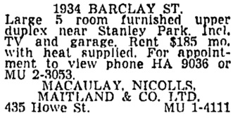 Vancouver Sun, March 7, 1969, page 51, column 5.