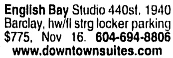 Vancouver Sun, November 6, 2004, page H1, column 10.