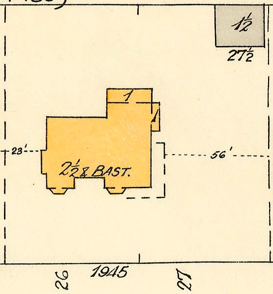 1945 Barclay Street; 1913, detail from Denman Street to Haro Street to Chilco Street to Comox Street; 1972-582.29 – Plate 54; Reference code: AM1594-MAP 383-: 1972-582.29; https://searcharchives.vancouver.ca/plate-54-denman-street-to-haro-street-to-chilco-street-to-comox-street.