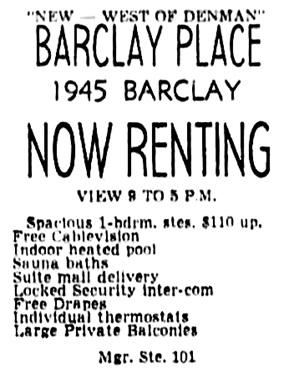Vancouver Sun, November 30, 1967, page 74, column 2.