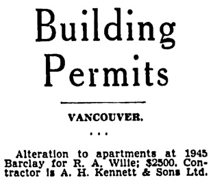 Vancouver Province, October 20, 1941, page 22, column 7 [selected portions].