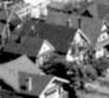 1949 Comox Street, 1962; detail from West End from the air; Vancouver City Archives, 1962; Air P96; https://searcharchives.vancouver.ca/west-end-from-air.