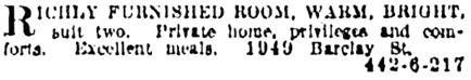 Vancouver Province, December 4, 1922, page 16, column 7.