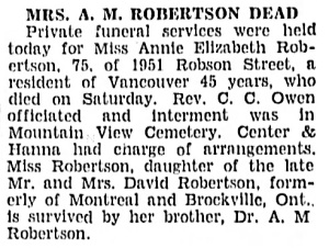 Vancouver Sun, May 26, 1936, page 3, column 3.