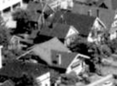 1961 Comox Street, 1962; detail from West End from the air; Vancouver City Archives, 1962; Air P96; https://searcharchives.vancouver.ca/west-end-from-air.