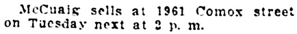 Vancouver Daily World, April 8, 1912, page 24, column 3.