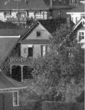 1961 Comox Street, detail from Houses on the north side of the 1900 Block of Pendrell Street; about 1910 to 1920; Vancouver City Archives, CVA 371-723; https://searcharchives.vancouver.ca/houses-on-north-side-of-1900-block-of-pendrell-street.