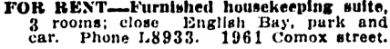 Vancouver Daily World, May 16, 1911, page 22, column 6.