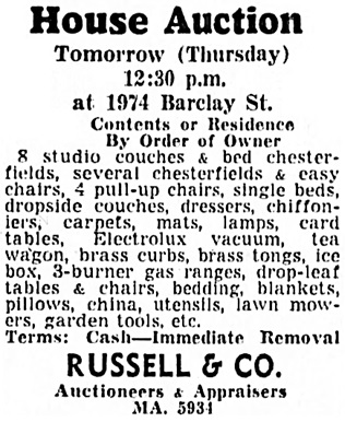 Vancouver Sun, July 21, 1954, page 42, column 3.