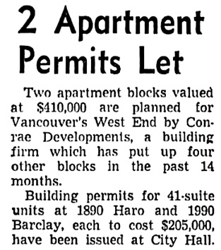 Vancouver Sun, August 13, 1954, page 18, column 1.