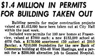 Vancouver Province, December 19, 1951, page 29, columns 2-3.