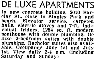 Vancouver Province, May 30, 1952, page 30, column 3.