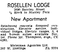 Vancouver Province, November 21, 1951, page 30, column 3.