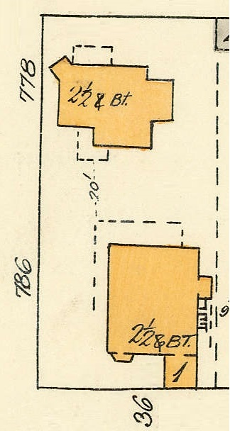 778 Gilford Street and 786 Gilford Street; detail from Goad's Atlas of Vancouver, Volume 1, Plate 48 [Denman Street to Georgia Street to Chilco Street to Haro Street]; https://searcharchives.vancouver.ca/plate-48-denman-street-to-georgia-street-to-chilco-street-to-haro-street.