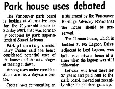 Vancouver Sun, June 4, 1974, page 6, columns 5-6.