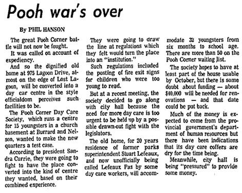 Vancouver Sun, August 7, 1974, page 47, columns 4-5.