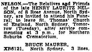 Sydney Morning Herald (Sydney, New South Wales, Australia), January 27, 1958, page 18, column 5.