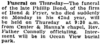 Vancouver Daily World, July 28, 1920, page 9, column 4.