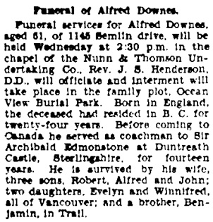 Vancouver Province, January 16, 1934, page 16, column 2.
