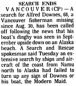 The Times (Nanaimo), October 17, 1973, page 2, column 3.
