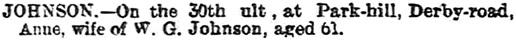The Nottinghamshire Guardian (Nottingham, England), February 4, 1893, page 3, column 1.