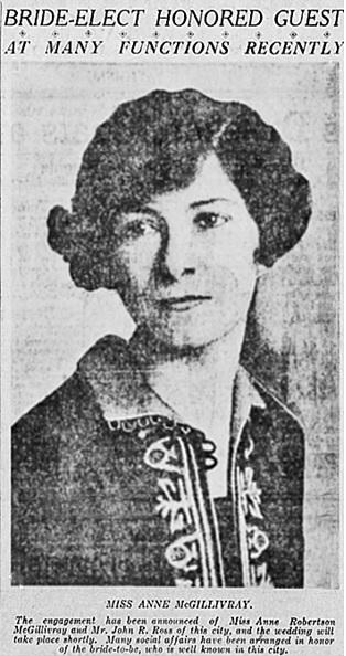 Vancouver Province, April 25, 1926, page 10, columns 4-5.