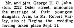 The Leader-Post (Regina), September 25, 1937, page 6, column 1.