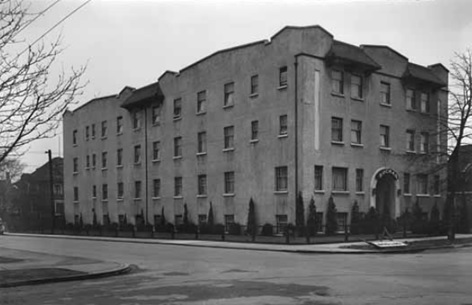 Buchan Apartments, January 20, 1939, Vancouver Public Library, VPL Accession Number: 15670; https://www3.vpl.ca/spePhotos/LeonardFrankCollection/02DisplayJPGs/562/15670.jpg.