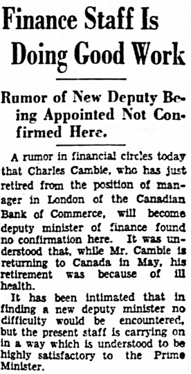 The Ottawa Citizen, March 18, 1931, page 2, column 8.
