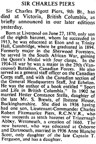 The Times (London, England), June 30, 1945, page 6.