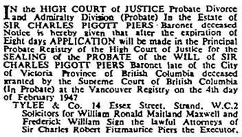 The Times (London, England), May 7, 1947, Issue 50754, page 1.